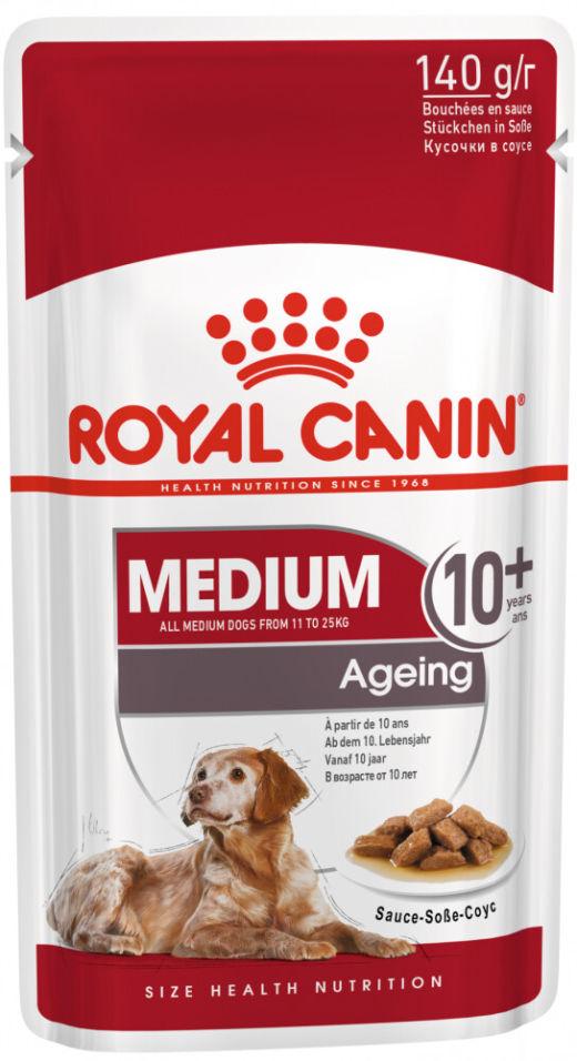 Отзывы о Корме для собак Royal Canin Ageing 10+ Medium для средних пород 140г