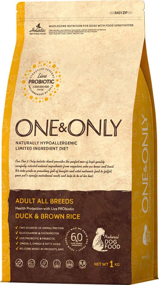 Сухой корм для собак One&Only Adult аll утка с рисом 1кг