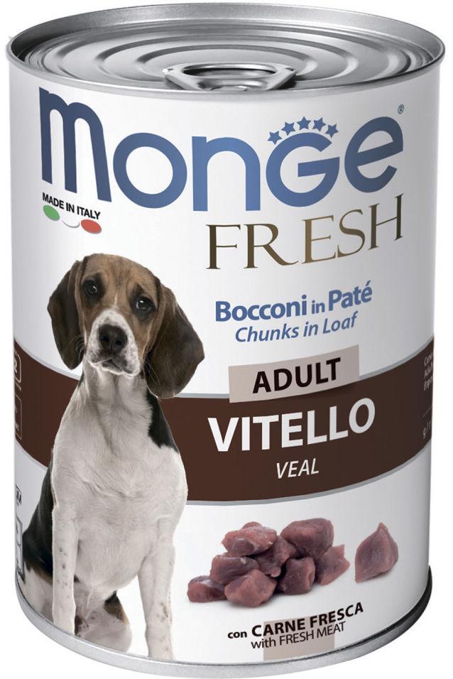 Корм для собак Monge Dog Fresh Chunks in Loaf рулет из телятины 400г