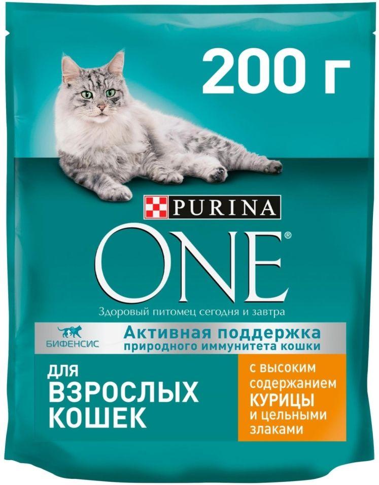 Отзывы о Сухой корм для кошек Purina One с курицей и цельными злаками 200г