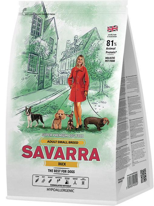 Сухой корм для собак Savarra Adult Dog Small Breed Утка рис 1кг