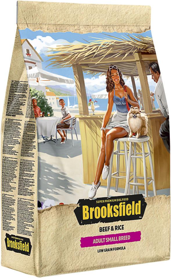 Сухой корм для собак Brooksfield Adult Dog Small Breed для мелких пород с говядиной и рисом 3кг