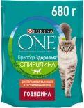 Сухой корм для кошек Purina One Говядина 680г