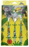 Набор столовых приборов Добросталь Джунгли детский 3 предмета