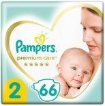 Подгузники Pampers Premium Care 4-8кг Размер 2 66шт