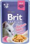 Корм для кошек Brit Premium Курица желе 85г