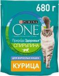 Сухой корм для кошек Purina One Природа здоровья Спирулина Курица 680г