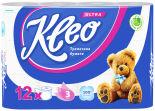 Туалетная бумага Kleo Ultra 12 рулонов 3 слоя