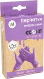 Перчатки EcoLat нитриловые сиреневые размер M 10шт