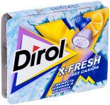 Жевательная резинка Dirol без сахара со вкусом черники и цитрусовых фруктов 16г