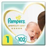 Подгузники Pampers Premium Care 2-5кг Размер 1 102шт