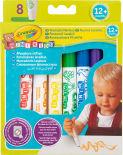 Фломастеры Crayola Mini Kids смывающиеся для малышей 8 цветов