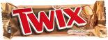 Печенье песочное Twix с карамелью и шоколадом 2шт*27.5г