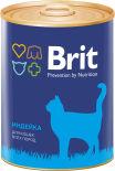 Корм для кошек Brit Индейка 340г