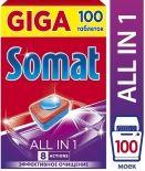 Таблетки для посудомоечных машин Somat All-in-1 100шт