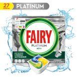Капсулы для посудомоечных машин Fairy Platinum All in One Лимон 27шт