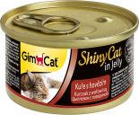 Корм для кошек GimCat ShinyCat из цыпленка с говядиной 70г