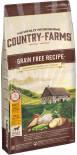 Сухой корм для собак Country Farms Grain Free Reсipe с курицей 11кг