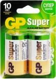 Батарейки GP Super 13A LR20 D 1.5В 2шт