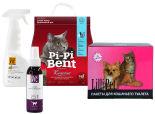 Набор товаров для кошек Наполнитель Pi-Pi Bent комкующийся 5 кг + Пакеты для кошачьего туалета Lili Pet 43*30 25шт + Спрей для кошек Doctor VIC отпугивающий 100мл + Спрей-нейтрализатор пятен и запаха животных Doctor Vic Апельсин 500мл