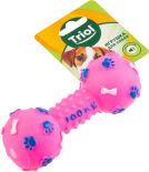 Игрушка для собак Triol Гантель с лапками и косточками из винила