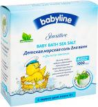 Соль для ванн Babyline Sensitive детская с целебными травами 4шт*250г