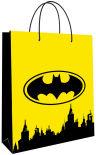 Пакет подарочный Batman желтый 25*35*10см