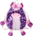 Сумка-рюкзак Fancy Единорог фиолетовый с пайетками