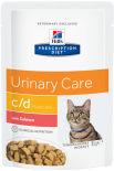 Влажный корм для кошек Hills Prescription Diet c/d для лечения и профилактики МКБ с лососем 85г