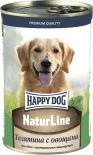 Корм для собак Happy Dog Телятина с овощами 410г