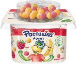 Йогурт Растишка с Малиной и Бананом с рисовыми шариками 3% 114г