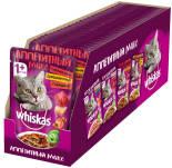 Корм для кошек Whiskas Аппетитный микс томатное желе домашяя птица говядина 85г