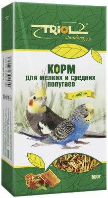Корм для птиц Triol Standard с медом для мелких и средних попугаев 500г