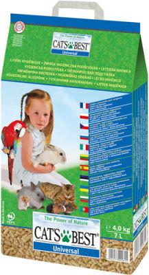Наполнитель для кошачьего туалета Cats Best Universal древесный 7л