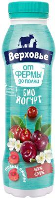 Биойогурт питьевой Верховье Вишня-черешня 2% 290г