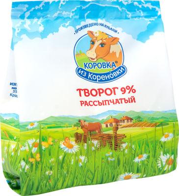 Творог Коровка из Кореновки рассыпчатый 9% 200г
