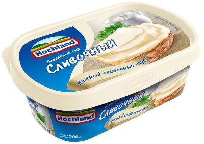 Сыр плавленый Hochland Сливочный 55% 200г