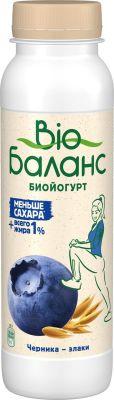 Биойогурт питьевой Bio Баланс с черникой и злаками 1% 270г