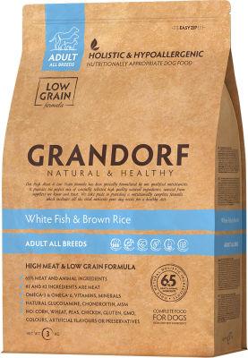 Сухой корм для собак Grandorf Adult all Рыба с рисом 3кг