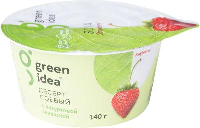 Десерт Green Idea Соевый с йогуртовой закваской и соком клубники 140г