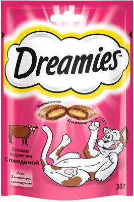 Лакомство для кошек Dreamies с говядиной 30г
