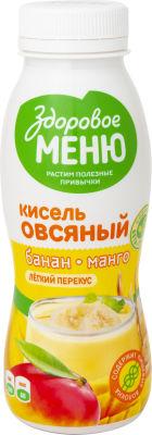 Кисель овсяный Здоровое Меню с бананом и манго 250мл