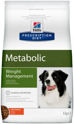 Сухой корм для собак Hills Prescription Diet Metabolic для снижения и контроля веса с курицей 4кг