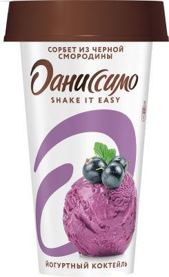 Коктейль йогуртный Даниссимо Shake&Go Сорбет из сочной черной смородины 2.7% 190г