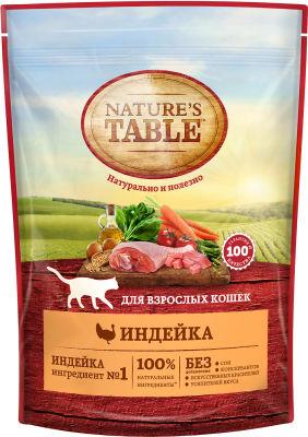 Сухой корм для кошек Natures Table Индейка 190г