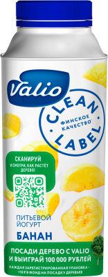 Йогурт питьевой Valio с бананом 0.4% 330мл