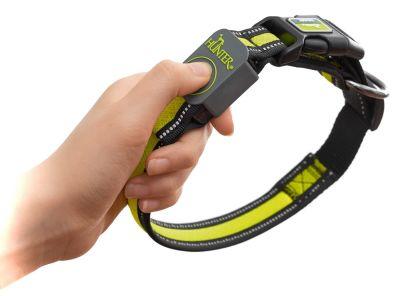 Ошейник Hunter LED Manoa Glow S желтый 45-50*2.5см
