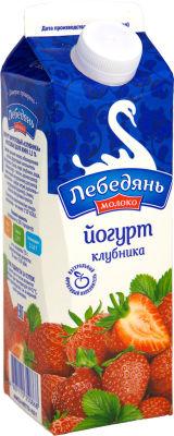 Йогурт питьевой ЛебедяньМолоко Клубника 2.5% 450г
